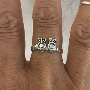 Jewelry - Sterling Silver Love Couple Owls 🦉🦉Ring